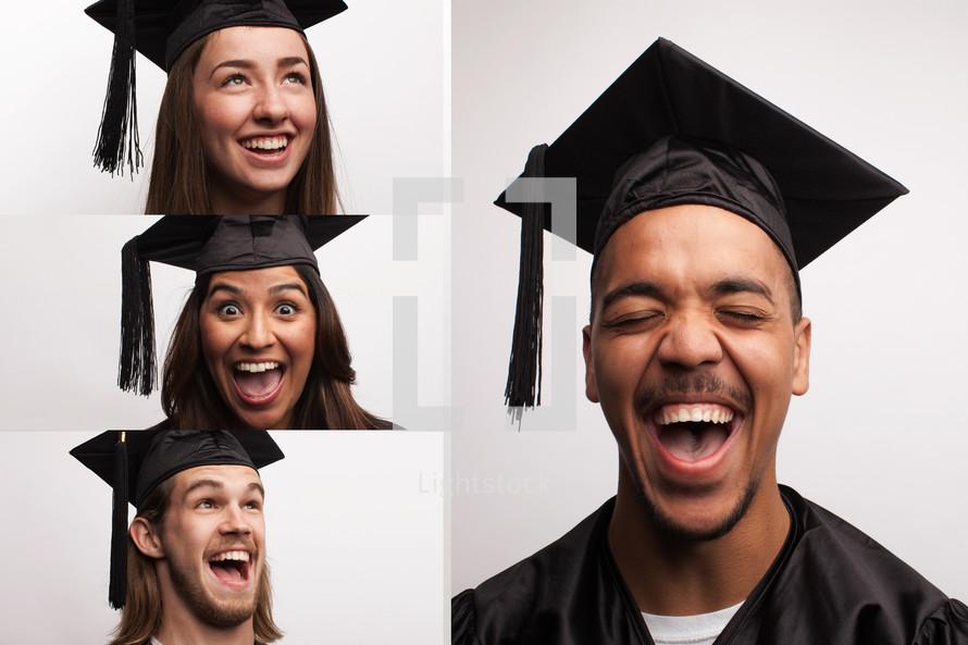 overjoyed graduates