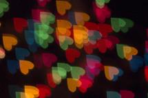 bokeh heart shapes