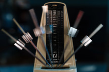 Metronome in motion.