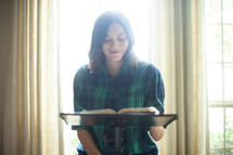 a woman leading a fall Bible study