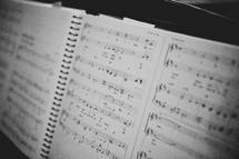 music score sheet