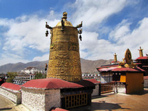 bell tower in Tibet