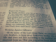 Bible verse  - 2 Thessalonians 3 - Request for prayer
