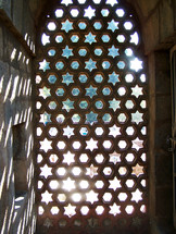 window screen in the Taj Mahal