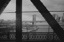 New York City bridge view
