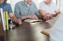 discussion at a men's group Bible study
