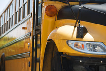 front of a school bus