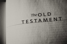 Open Bible in the Old Testament