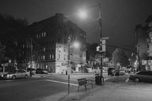 New York City streets at nights