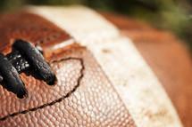 football closeup
