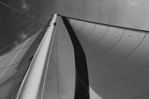 a mast on a sailboat