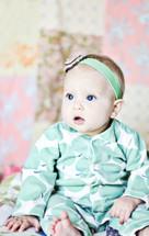 blue eyed infant girl