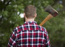 man with an ax