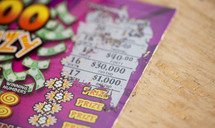 scratch off lottery ticket