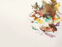 brush strokes painting on a white background