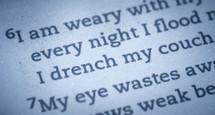 I am weary Bible verse