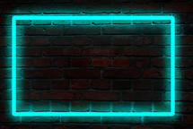 neon light framed background