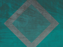 teal and gray abstract square