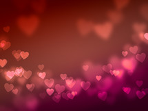 heart with bokeh lights background