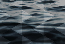 geometric shape overlay over water