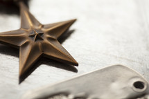 military star and dog tags