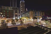 Urban setting at night - city streets