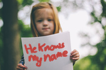 He knows my name sign