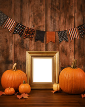 frame and Halloween background
