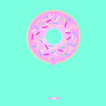 a doughnut with sprinkles
