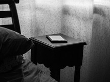 ebook on a nightstand