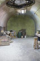 barrels in a workshop