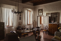 dining room in a home in Italy