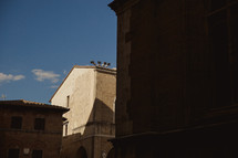 shadows on buildings in Italy