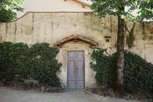 door on an exterior wall in Italy
