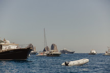 boats on the water in Italy