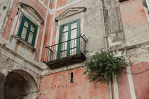 a balcony in Italy