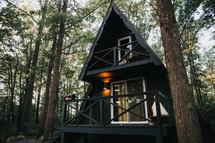 cabin with decks