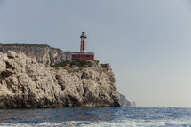 lighthouse on a cliff in Italy