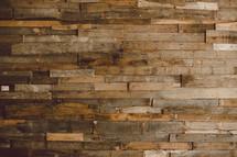 Wood plank wall.