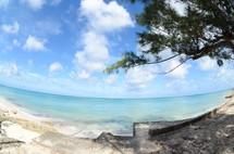 blue sea and a beach