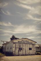 old service garage building