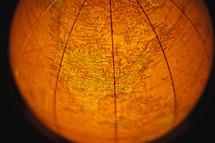 Illuminated world globe.