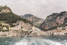 homes along the cliffs of a coastal Italian town