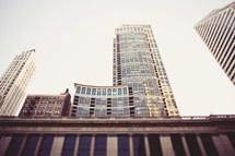 Tall buildings in city