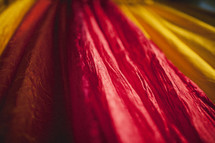 Red and yellow fabric