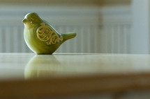 green porcelain bird