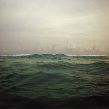 choppy ocean water