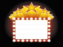 movie stars marquee sign