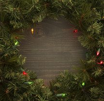 border Christmas wreath