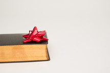 Christmas bow and Bible